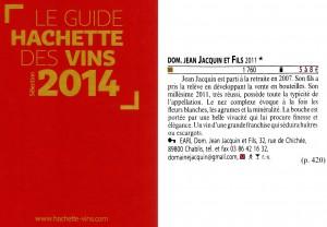 Guide Hachette 2014 article et visuel